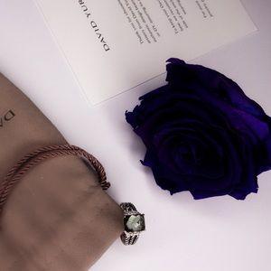 💯Authentic David Yurman Prasiolite & Diamond Ring